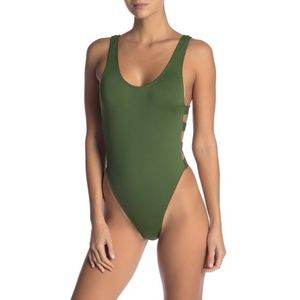 The Bikini Lab Solid Side Strap One-Piece Swimsuit